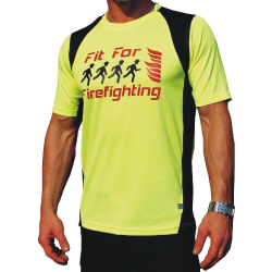 Laufshirt neongelb, Fit for Firefighting, atmungsaktiv 3XL