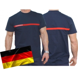 T-Shirt french navy, with red stripe auf Brust and...