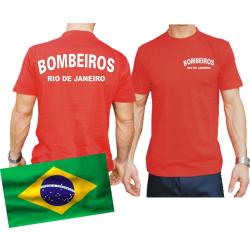 T-Shirt red, BOMBEIROS Rio de Janeiro (Brasil)