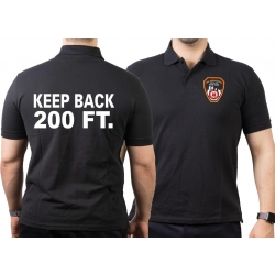 Polo black, New York City Fire Dept. KEEP BACK 200 FT.,...