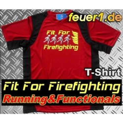 """Laufshirt rojo, """"Fit for Firefighting"""" respirable"""