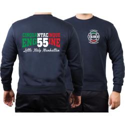 Sweat navy, Engine 55 Manhattan, Little Italy