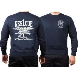 "Sweat navy, ""Rescue 1 Manhattan - Eagle"""