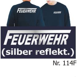 """Sweat navy, FEUERWEHR mit langem """"F""""..."""