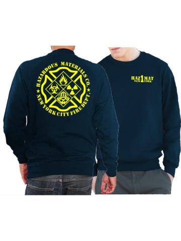 "Sweat navy, ""HazMat Co.1"" New York (Gefahrguteinheit)"