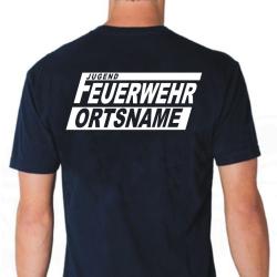 "T-Shirt marin, police de caractère ""FJN""..."