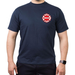 CHICAGO FIRE Dept., Standard-Emblem, navy T-Shirt, L