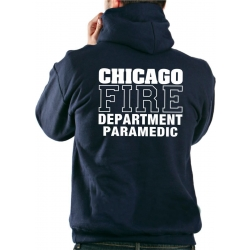 CHICAGO FIRE Dept. PARAMEDIC, azul marino Hoodie