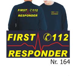 Sweat navy, First Responder (neonyellow/red)