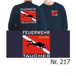 """Sweat blu navy, """"Feuerwehr Taucher"""" con Diver..."""