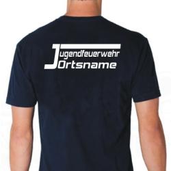 "T-Shirt marin, police de caractère ""JO""..."