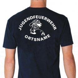 "T-Shirt marin, police de caractère ""MJ6""..."