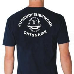 """T-Shirt marin, police de caractère """"MJH""""..."""