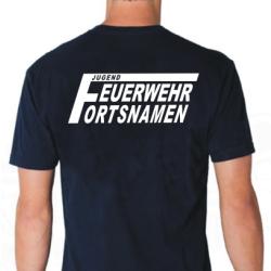 "T-Shirt marin, police de caractère ""FJ2""..."