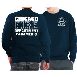 CHICAGO FIRE Dept. PARAMEDIC, azul marino Sweat