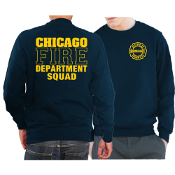 CHICAGO FIRE Dept. SQUAD, navy Sweat, XL