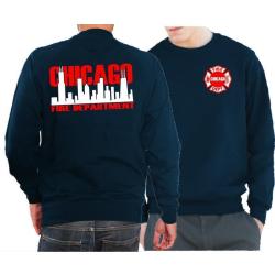 CHICAGO FIRE Dept. Skyline bicolor, navy Sweat