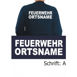 """Sweat mit Schriftzug """"A"""" mit Ortsnamen"""