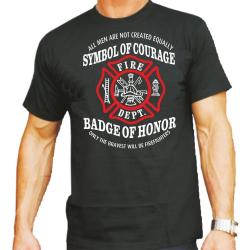 "T-Shirt negro, ""Symbol of Courage - Badge of..."