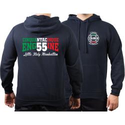 Hoodie navy, New York City Fire Dept. E-55 Manhattan,...