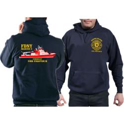 Hoodie navy, New Yorker Feuerwer Marine 9...