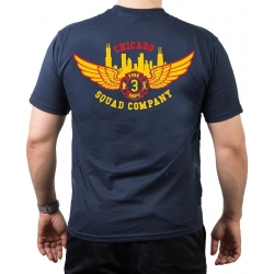 CHICAGO FIRE Dept. Squad 3 Eagle Wings Skyline, navy T-Shirt