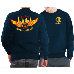 CHICAGO FIRE Dept. Squad 3 Eagle Wings Skyline, navy Sweat