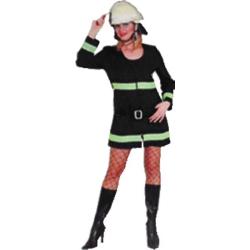 Kostüm Feuerwehrgirl in black