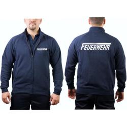 """Sweatjacke navy, FEUERWEHR mit langem """"F"""" in..."""
