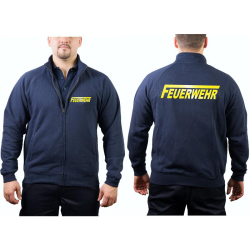 """Sweat jacket navy, FEUERWEHR with long """"F""""..."""