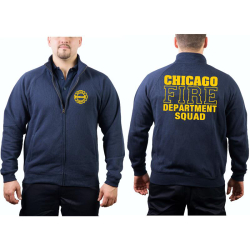 CHICAGO FIRE Dept. Sweat jacket navy, SQUAD Company yellow
