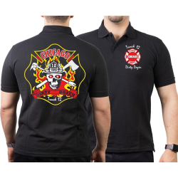 CHICAGO FIRE Dept. Truck 12 - Dirty Dozen, black Polo
