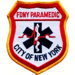 Insignia Fire Dept. New York City - Paramedic 11 x 9,5 cm