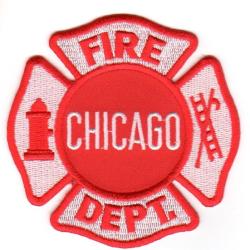 Patch Chicago Fire Dept. (8,7 x 8,7 cm)