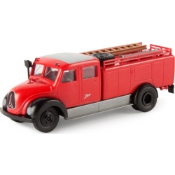 Model car 1:87 Magirus Mercur TLF 15 red/black (Rundhauber)