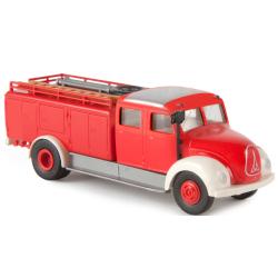 Model car 1:87 Magirus Mercur TLF 15 red/white (Rundhauber)