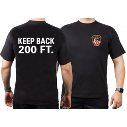 T-Shirt black, New York City Fire Dept. KEEP BACK 200...