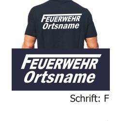 """T-Shirt Schrift """"F"""" mit Ortsnamen"""