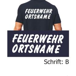 "T-Shirt Schrift ""B"" mit Ortsnamen"