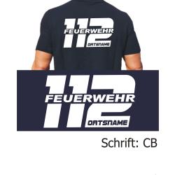 """T-Shirt Schrift """"CB"""" (112 FEUERWEHR) mit Ortsnamen"""