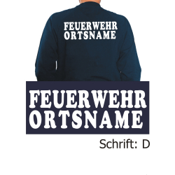 """Sweat mit Schriftzug """"D"""" mit Ortsnamen"""