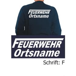 """Sweat mit Schriftzug """"F"""" mit Ortsnamen"""