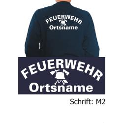 """Sweat mit Schriftzug """"M2"""" (FW-Helm) mit Ortsnamen"""