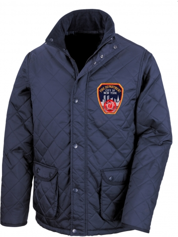 Steppjacke New York City Fire Dept. mit Standard-Emblem
