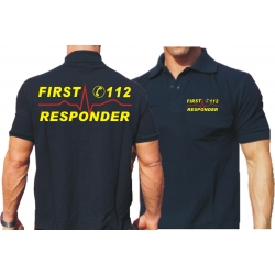 Polo navy, First Responder (neonyellow/red)