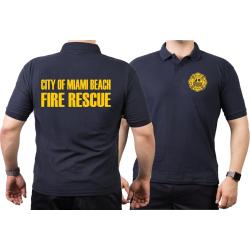 Polo navy, Miami Beach Fire Rescue, yellow