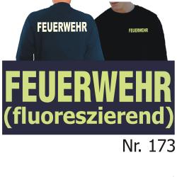 Sweat navy, FEUERWEHR fluoreszierend (XS-3XL)