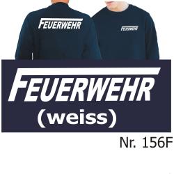 """Sweat navy, FEUERWEHR mit langem """"F"""" in..."""