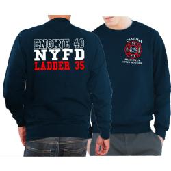 Sweat navy, New York City Fire Dept. NYFD (E-40/L-35)...