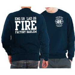 """Sweat navy, New York City Fire Dept. """"Fire Factory..."""